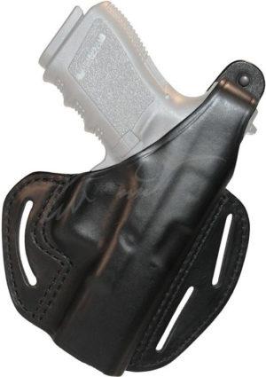 Кобура BLACKHAWK 3-SLOT PANCAKE HOLSTER для Glock 19/23/32/36 кожа ц:черный, код 1649.11.87