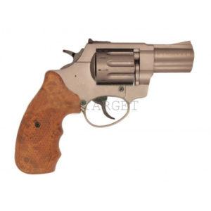 Револьвер флобера STALKER S 4 мм 2,5″ коричн. рук.(силумин.барабан), код 3880.00.29