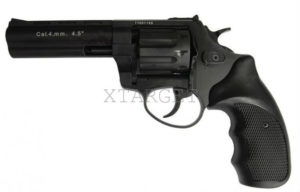 Револьвер флобера STALKER S 4 мм 4,5″ чёрн. рук.(силумин.барабан), код 3880.00.30