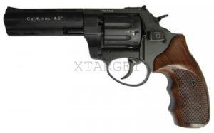 Револьвер флобера STALKER S 4 мм 4,5″ коричн. рук.(силумин.барабан), код 3880.00.31
