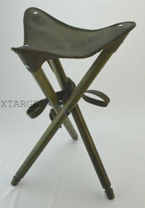 Стул охотничий складной с сиденьем из натуральной кожи, код СТ-1