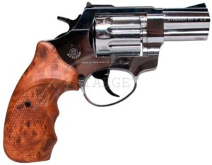 Револьвер флобера STALKER 4 мм 2,5″ никель,коричн. рук., код 3880.00.38