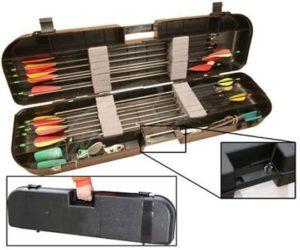 Кейс пластмассовый MTM Arrow Plus Case для 36 стрел и прочих комплектующих. Размеры – 91,5х26х13 см, код 1773.06.80