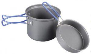 Кастрюля-кружка Tramp 0,9 л. анодированная с крышкой-сковородкой, код TRC-039