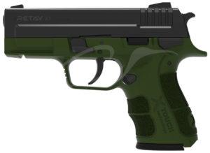 Пистолет стартовый Retay X1 9мм.,  цвет олива, код 1195.08.04