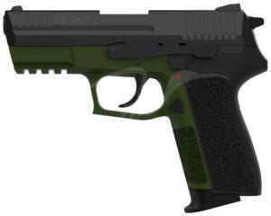 Пистолет стартовый Retay 2022 кал. 9 мм. Цвет – олива, код 1195.08.19