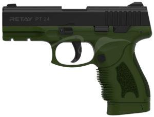 Пистолет стартовый Retay PT24 кал. 9 мм. Цвет – олива, код 1195.08.13