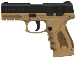 Пистолет стартовый Retay PT24 кал. 9 мм. Цвет – песочный, код 1195.08.14