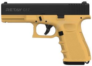 Пистолет стартовый Retay G17 9 мм, цвет sand, код 1195.08.15