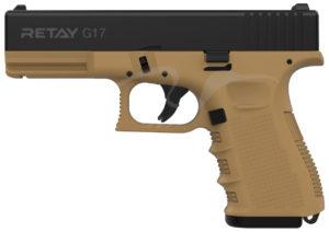 Пистолет стартовый Retay G17 9 мм, цвет песочный, код 1195.08.17