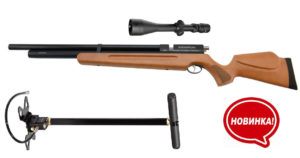 Пневматическая PCP винтовка SPA M 22, 4.5 мм, 305 м/с + насос и прицел 3-9х40