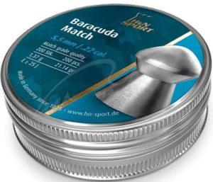 Пули пневматические H&N Baracuda Match, 200 шт/уп, 1,37 r, 5.53 мм
