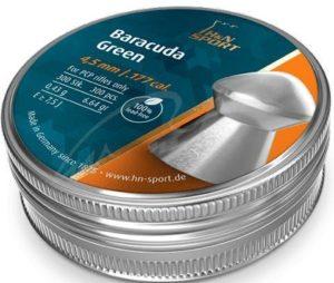 Пули пневматические H&N Baracuda Green, 200 шт/уп, 0,42 г, бессвинцовая 4,5 мм