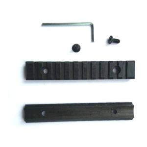 Планка стальная Weaver 125 мм заокругленная, h = 9 мм (1 штука.)