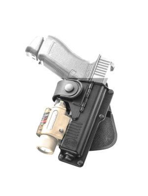 Кобура Fobus RBT19G BH для Glock-19/23 с подствольным фонарем, с креплением на ремень, код 2370.23.18