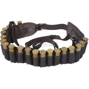 Кожаный патронташ для патронов гладкоствольного оружия на 20 шт, код ПК-1