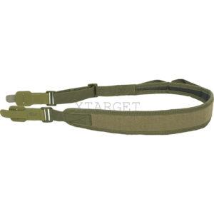 Ремень ружейный брезентовый с кожаными застежками 110-127, код ОР-10