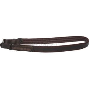 Ремень ружейный — ременная лента с латексными дорожками кожаной накладкой, крепления кожа, код МР-7