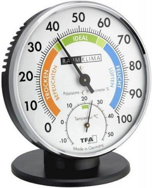 Термогигрометр TFA 452033, цветная шкала, 102x35x102 мм, код 452033