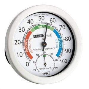 Термогигрометр TFA, цветная шкала, d=120 мм, код 452028