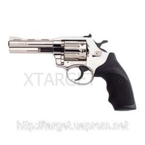 Револьвер флобера Alfa мод 440 4 никель пластик накладки 4 мм, код 1431.00.05
