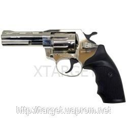 Револьвер флобера Alfa мод 441 4″ никель пластик регулир. целик 4 мм, код 1431.00.17
