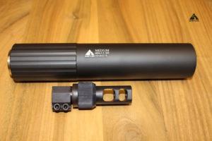 Глушитель Astur для СВД, глушитель + дтк-адаптер, кал. .30 (.300, 30-06, .308), код Astur СВД