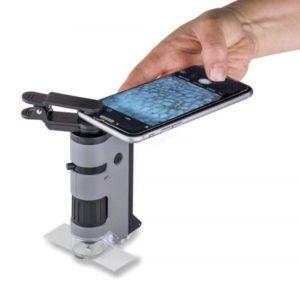 Микроскоп Carson MicroFlip100-250x асферика с смартфон адаптером и ультрафиолетом, код MP-250