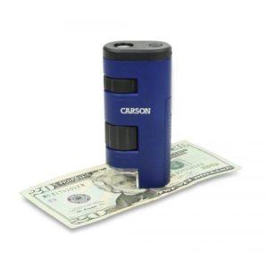 Микроскоп Carson PocketMicro 20-60x асферические линзы с большим углом обзора, код MM-450