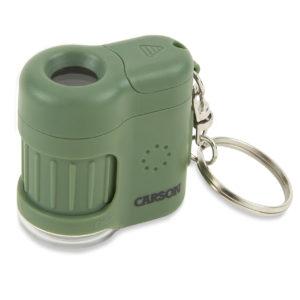 Микроскоп-брелок MicroMini 20Х Safari Green фонарик/ультрафиолет, код MM-280G