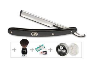 Набор для бритья Boker Gift Set Barberette Black , (сменные лезвия), код 2373.08.06