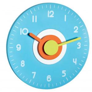 Часы настенные TFA Polo, d=230×40 мм, синие, код 60301506
