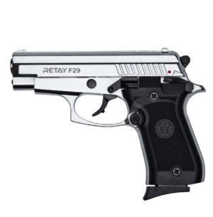 Пистолет стартовый Retay F29 никель, 9 мм, код 1195.08.85